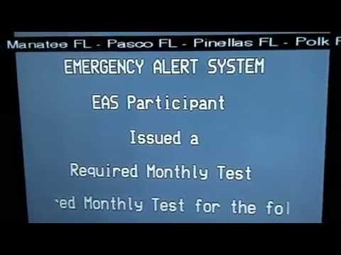 Emergency Alert System - Required Monthly Test 4/8/15