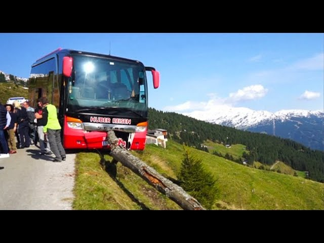 Man saves bus from plunging into ravine in Austrian Alps