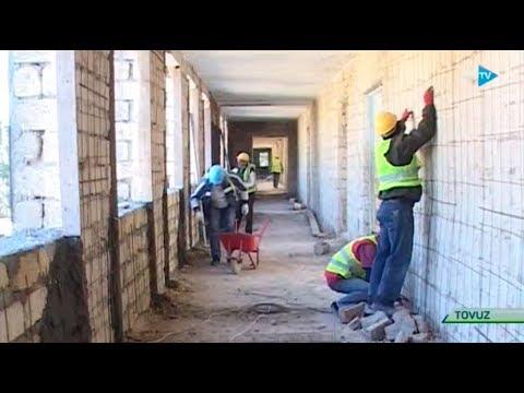 Təhsil TV: Tovuzun Aşağı Quşçuda orta məktəb binası əsaslı təmir olunur