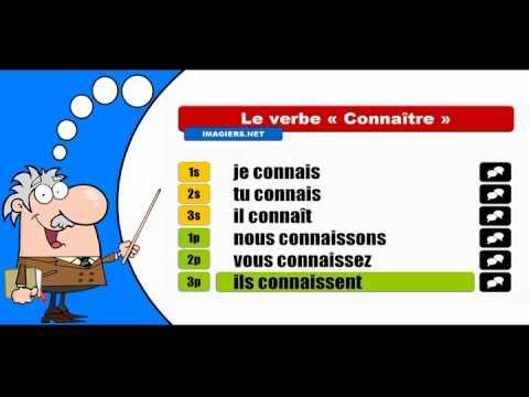 La Conjugaison Du Verbe Connaitre Indicatif Present Youtube