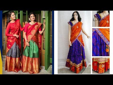 South Indian Stylish Half Saree Designs