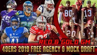 Live! 49ers Free Agency & Mock Draft 2019 - Ronbo Sports Red & Gold GM EP 5