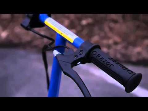 Электросамокат Razor E300, видео о том, что из себя представляет электросамокат