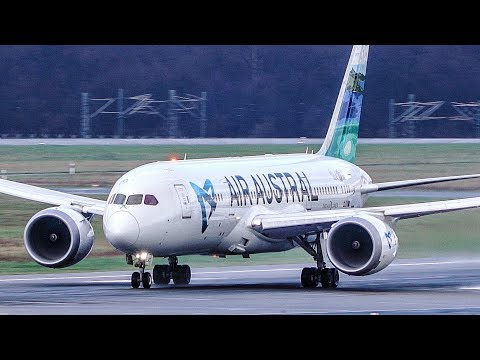 The BEST BOEING 787 LIVERY? Air Austral Boeing 787-8 Arrival and Departure (4K)
