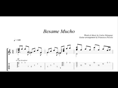 Fingerstyle Guitar - Besame Mucho (From Latin Collection Nr.3)