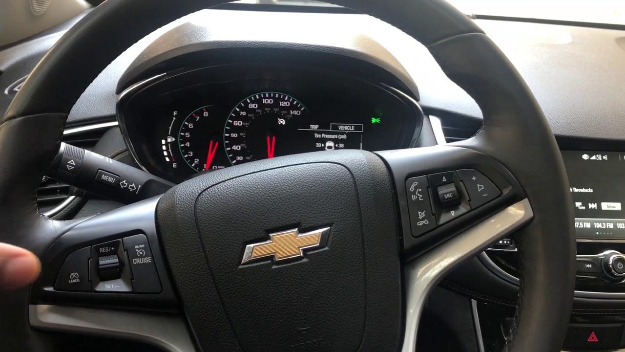 Chevrolet Trax - Cruise Control Button Location