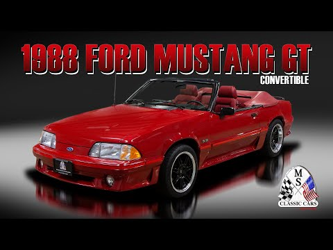 1988 Ford Mustang GT Convertible MS CLASSIC CARS