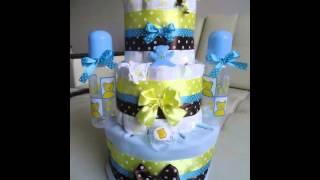 Подарки новорожденным - Торты из памперсов