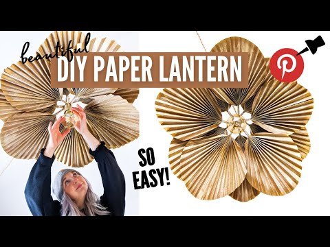 *SUPER EASY* diy paper lantern...because pinterest made me do it. | EP 4