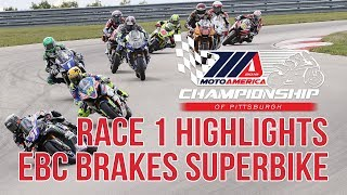 EBC Brakes Superbike Race 1 Highlights at The MotoAmerica Championship of Pittsburgh