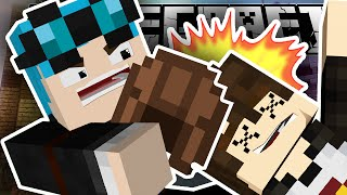 Minecraft   KILLED WITH A LEATHER HELMET!!