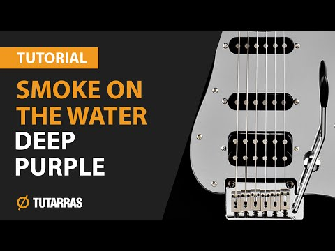 How to play SMOKE ON THE WATER from Deep Purple - Electric Guitar GUITAR LESSON