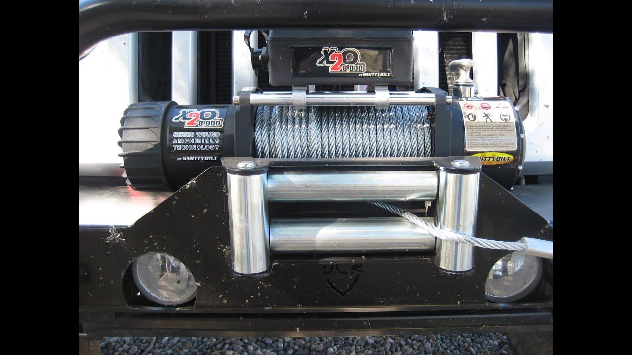 smittybilt winch review x20 8k jeep winch with junior