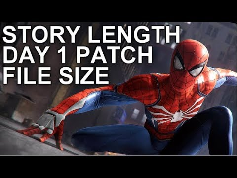 spider man ps4 day 1 patch size
