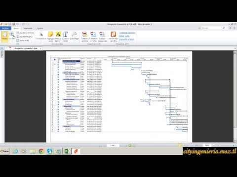 Convertir PDT de MS PROJECT 2013 a PDF