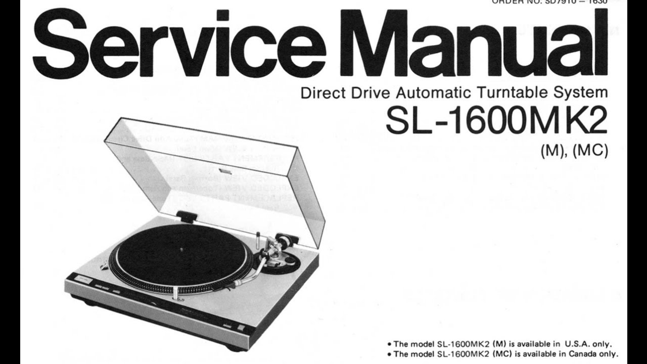 Technics 1600 MkII Service Manual Scan