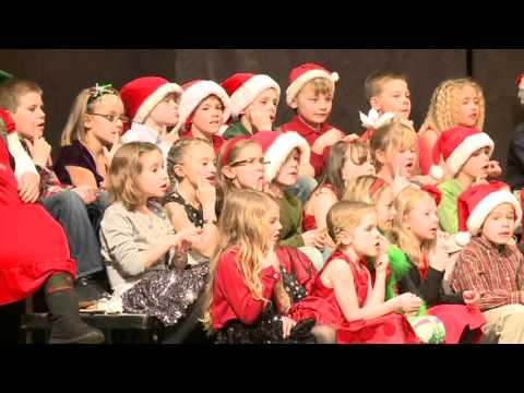 Boyne City Elementary School Christmas Sing 2012 KD and Second Grade Part I