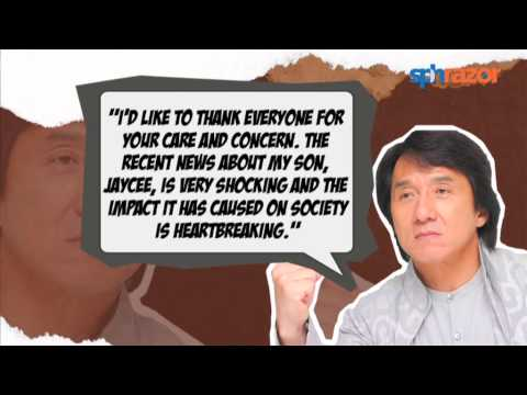 """Jackie Chan """"sad"""" and """"disappointed"""" witth son Jaycee"""