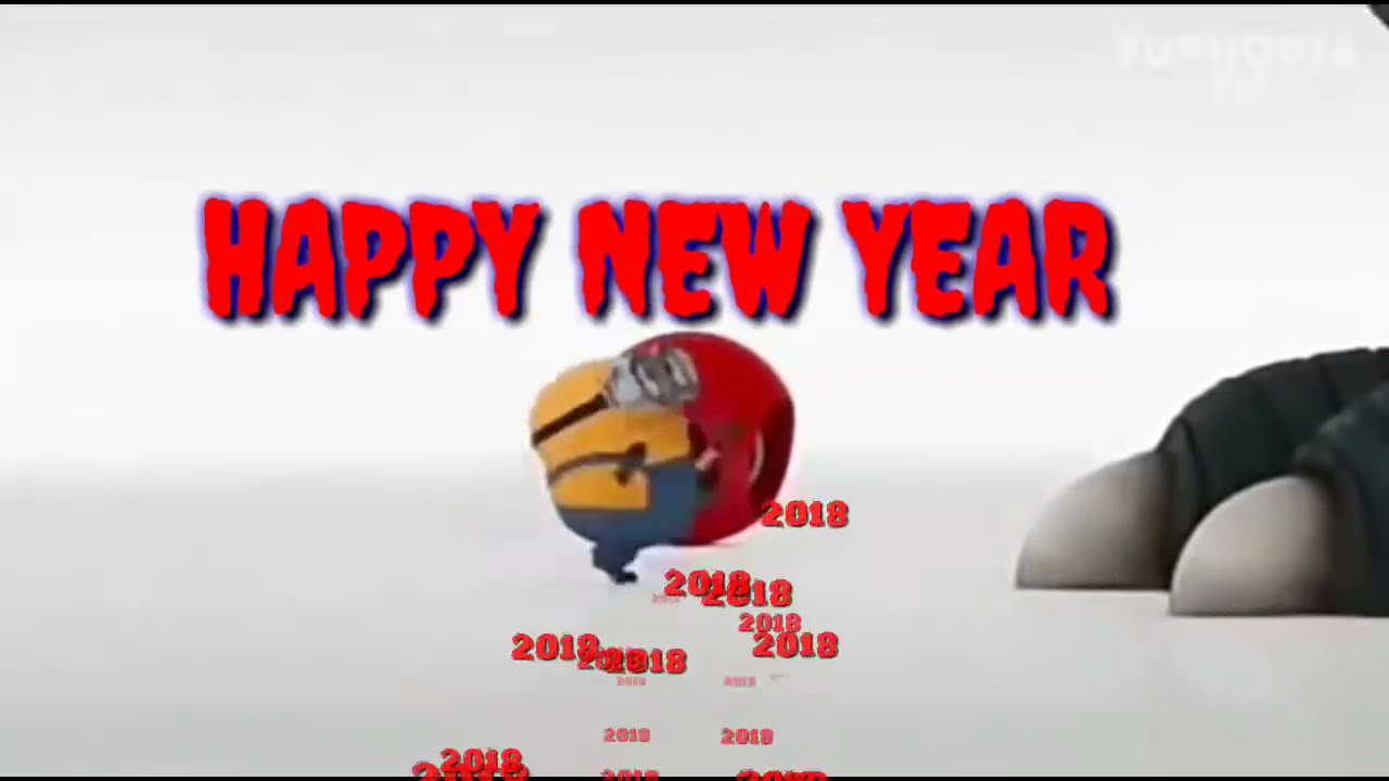 Image of: Gif Minions Happy New Year Status happy Newyear 2018 Status Video funny Minion Newyear Whatsapp Status Youtube Minions Happy New Year Status happy Newyear 2018 Status Video