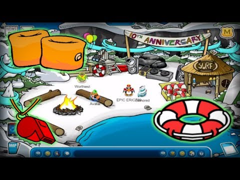 Cove year anniversary party club penguin rewritten youtube