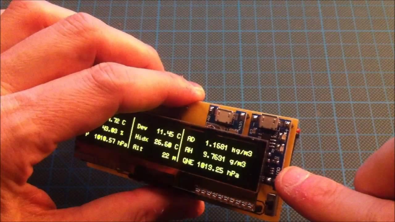 Arduino based portable altimeter & weather station | Hackaday io
