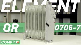 Element OR 0706-7 - миниатюрный масляный обогреватель - Видеодемонстрация от Comfy.ua(Element OR 0706-7 - масляный обогреватель со скромными размерами. Прибор состоит из 7 секций, мощность составляет..., 2016-01-13T10:18:24.000Z)