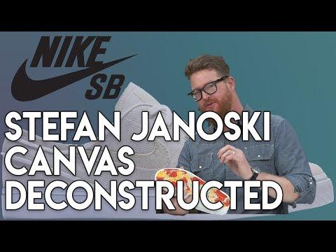 Nike SB Zoom Stefan Janoski Canvas Deconstructed Skate Shoes