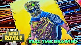 How To Draw Fortnite Character - Battle Hound Skin - Step By Step Tutorial - Dibujando fortnite