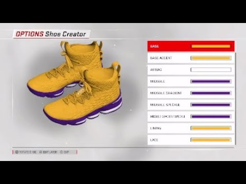 1e5944ab2c6 NBA 2K18 Shoe Creator  Lebron 15 Custom