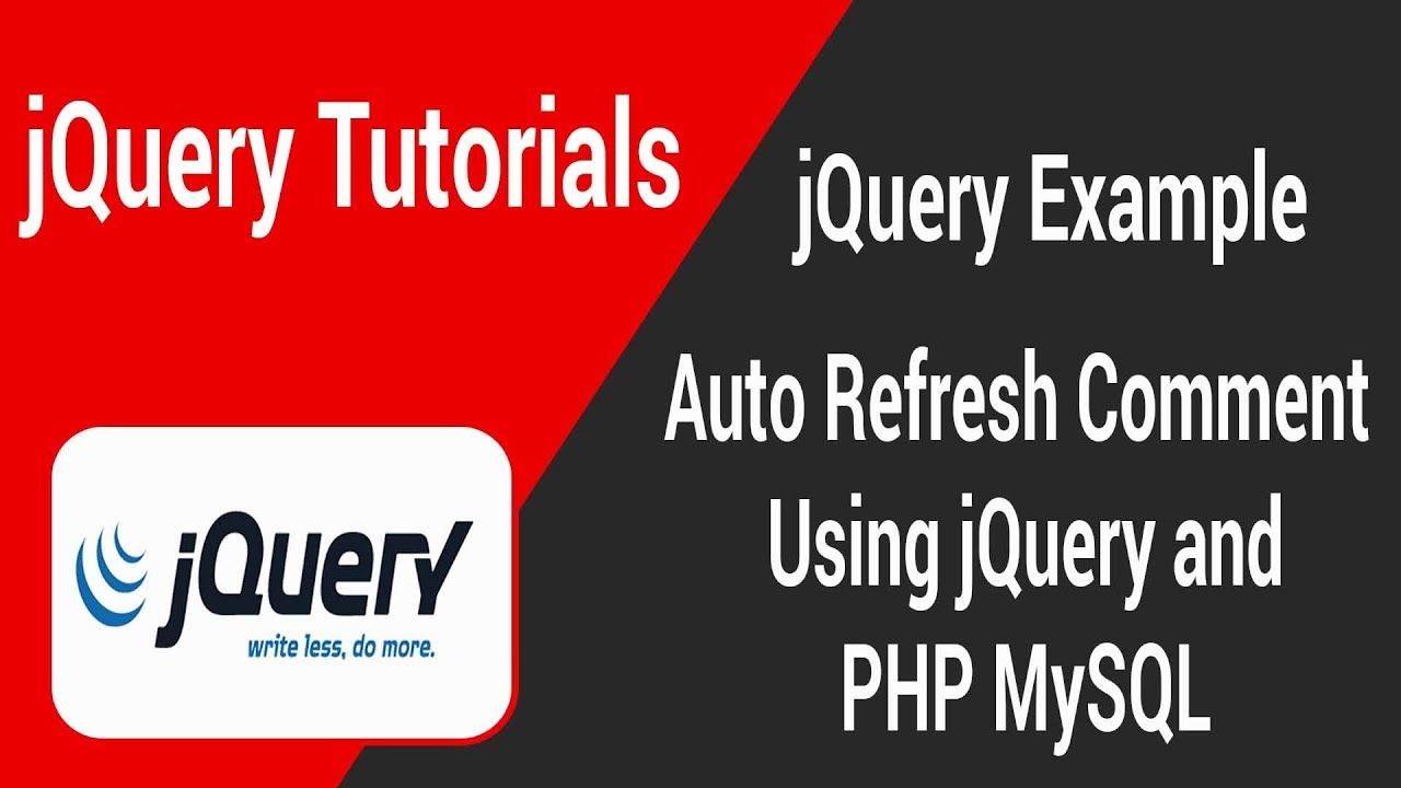 Auto refresh comment using jquery With PHP and MySQL in Tamil