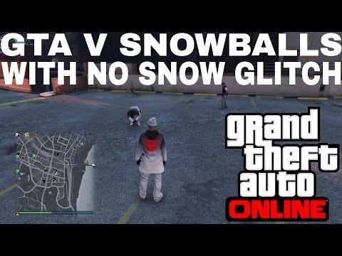 GTA V Snowballs with no snow wtf!!