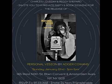 Adger Cowans Harlem Personal Vision Book Party