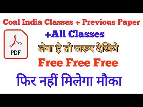 Coal India Study Material Pdf Free Download | Study4naukari All Classes Pdf Download Pdf