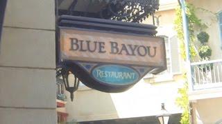 Mealtime at Disneyland- The Blue Bayou Restaurant