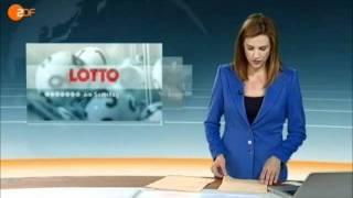 ZDF-heute-Journal Panne beim Vorlesen der Lottozahlen am 30.7.2011