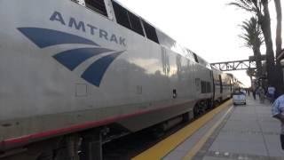 Arrival & Departure Of Amtrak SOUTHWEST CHIEF - Fullerton Depot 4/30/2016