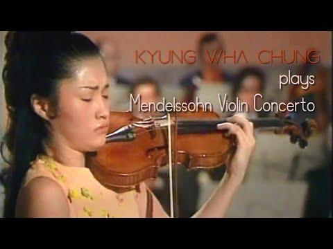 Kyung Wha Chung plays Mendelssohn violin concerto (1971)