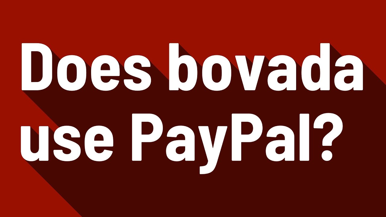 Does Bovada Accept Paypal