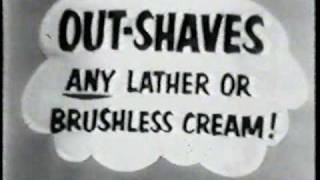 Old TV ads - Commercials from the 50s - Rapid Shave shaving cream Ad