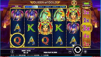 78 - Queen of Gold slot game - LIVE STREAM CASINO