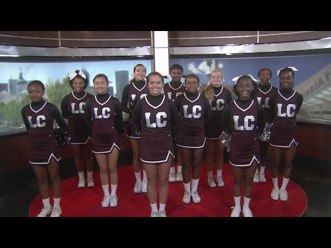 Lawrence Central High School cheerleaders on WISH-TV