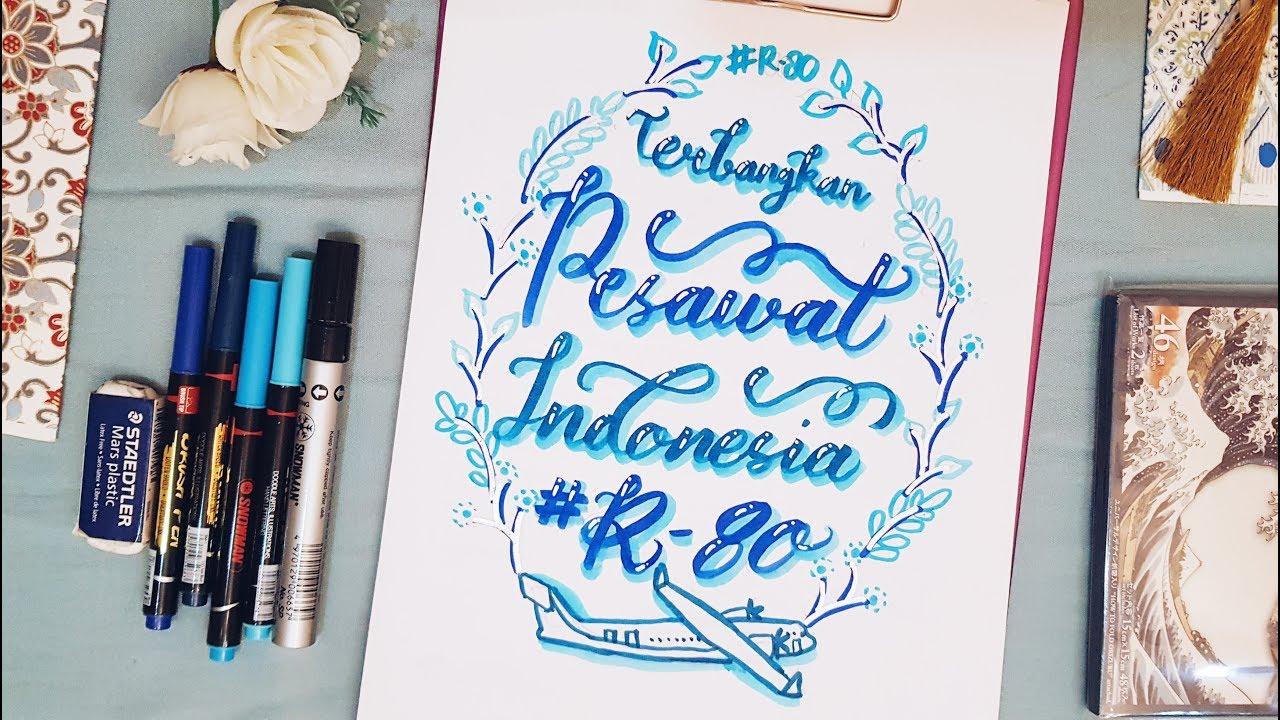 Hand Lettering Pesawat R80 Karya Eyang BJ Habibie