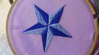 Hand Embroidery Star Design Satin Stitch By Amma Arts