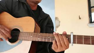 gaata rahe mera dil guitar chords cover and easy lesson for the beginners