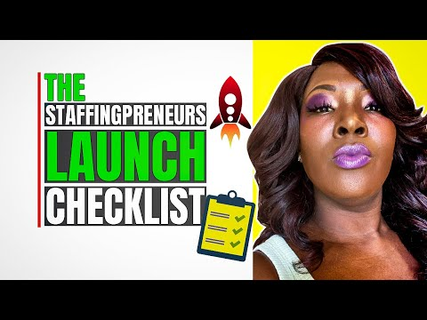 Introducing The Staffingpreneurs Launch Checklist - Start a Staffing