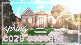 ~ spring cozy cottage ~ bloxburg speedbuild ~