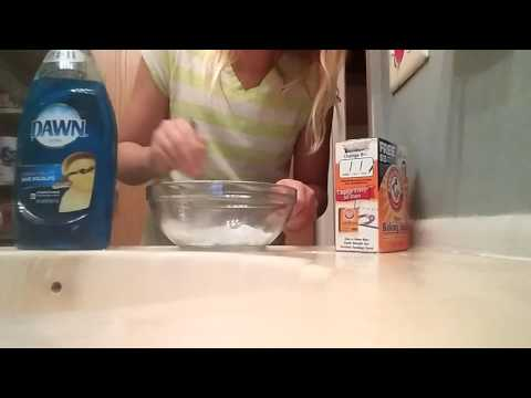 How to make slime using Dawn dish soap,and Baking Soda