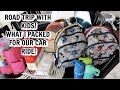 Packing for a FAMILY ROAD TRIP with FOUR KIDS // CAR organization HACKS // Mama Approved