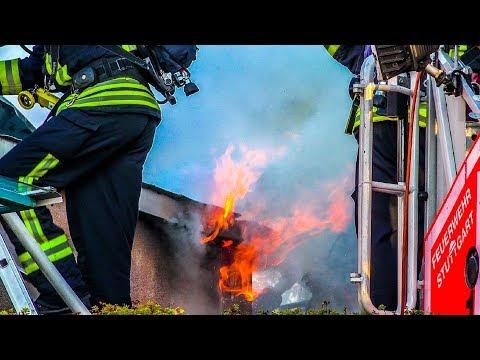 BRAND IN SCHULE - [RAUCH & FLAMMEN] - FEUERWEHR STUTTGART | 2. ALARM - GROSSEINSATZ
