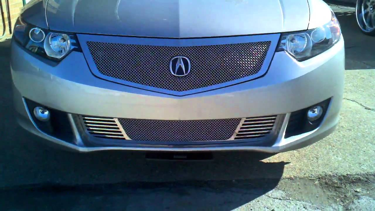 2012 Chrysler 200 Grill >> 2010 Acura TSX Custom Grill with motorized licence plate - YouTube